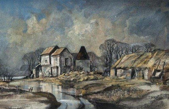 98: Rowland Hilder OBE PRI (1905-1993) Oak Farm, East