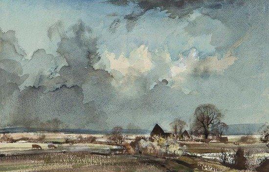100: Rowland Hilder OBE PRI (1905-1993) Near Faversham
