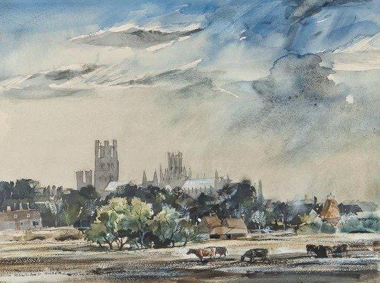 109: Rowland Hilder OBE PRI (1905-1993) Ely Cathedral