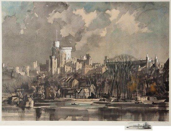 112: Rowland Hilder OBE PRI (1905-1993) Windsor Castle
