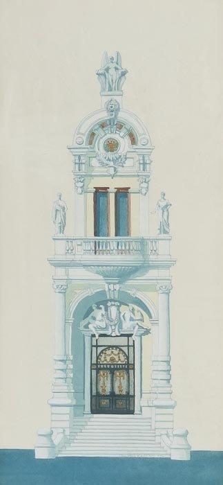 113: Andras Kaldor (b.1938) Opera de Monte Carlo - Deta