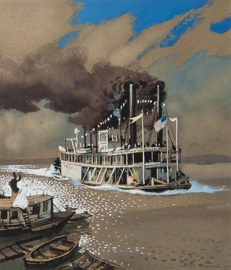 117: Rowland Hilder OBE PRI (1905-1993) Mississippi Pad