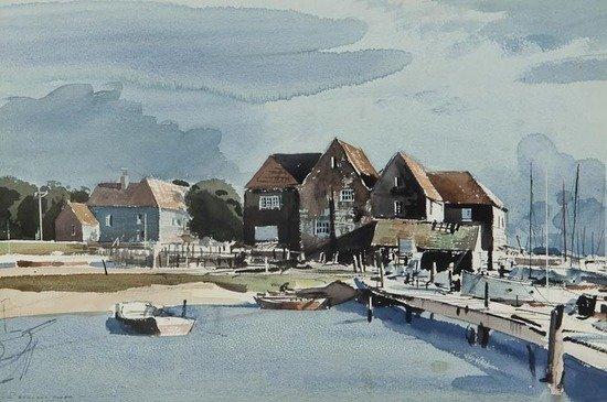 118: Rowland Hilder OBE PRI (1905-1993) Birdham Pool