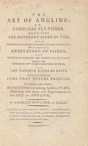 Bowlker (Charles) The Art Of Angling;
