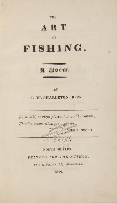 66: Charleton (T.W.) The Art of Fishing. A Poem