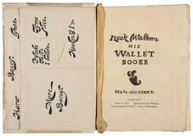 [Crawhall (Joseph)] Izaak Walton: His Wallet Booke