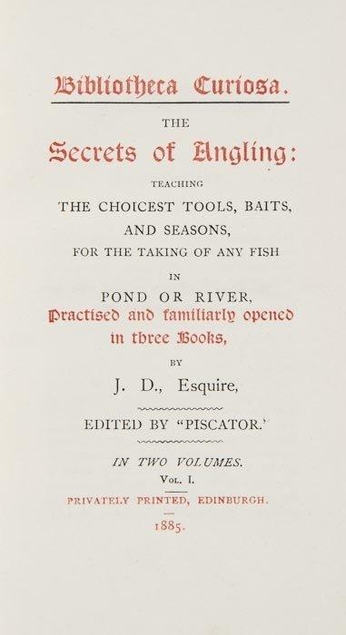 112: D[ennys (John)] Bibliotheca Curiosa. The Secrets o