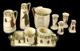 458 A selection of Royal Doulton Isaac Walton Ware in