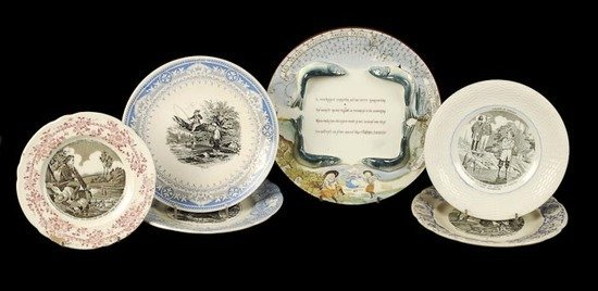 479: An assortment of fish related French pottery, incl