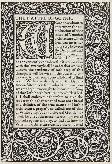 4: Ruskin (John) The Nature of Gothic:
