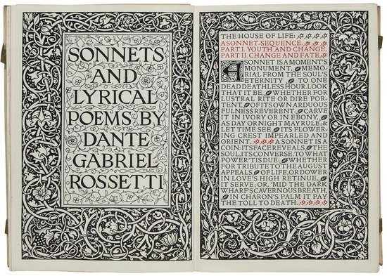 22: Rossetti (Dante Gabriel) Sonnets and Lyrical Poems