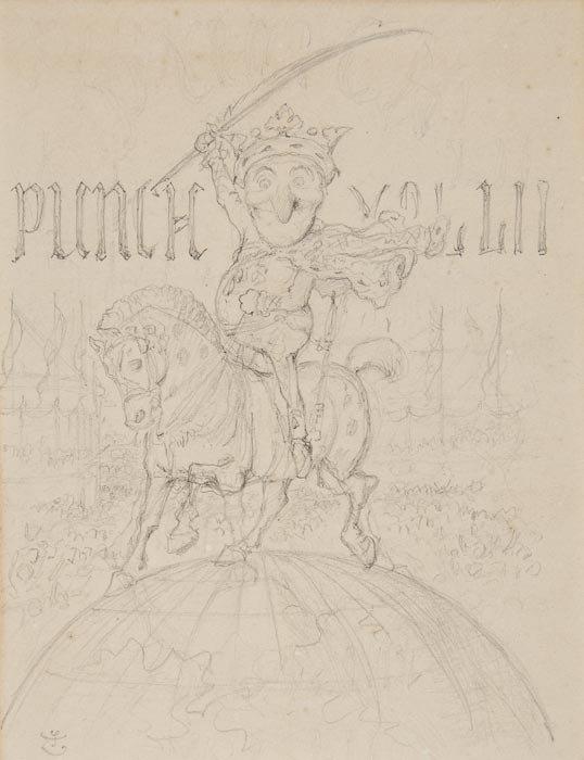 139: (Sir John) Original illustration for the frontispi