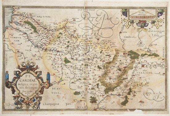 15: Europe.- Ortelius (Abraham) Picardiae Belgicae Reg