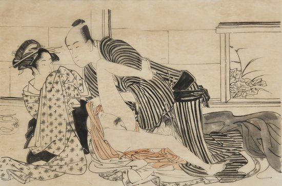 22: Japanese School (20th century) A copulating couple