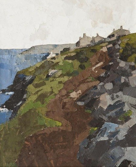 2: Sir Kyffin Williams (1918-2006) Coastal Scene, Ang