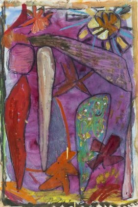 11: Gillian Ayres (b.1930) Untitled (Landscape)