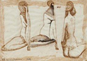 15: Frederick Edward McWilliam (1909-1992) Three Nude