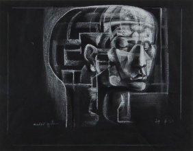 16: Michael Ayrton (1921-1975) Untitled (Head of a Man