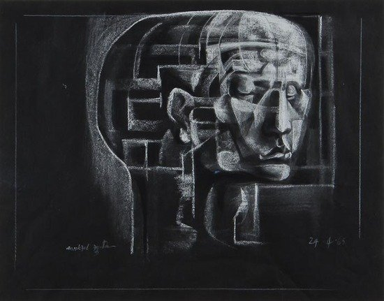 16: Michael Ayrton (1921-1975) Untitled (Head of a Man