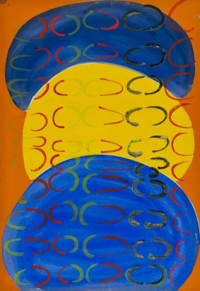 20: Sir Terry Frost (1915-2003) Composition in Blue an
