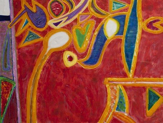 3: Gillian Ayres (b.1930) Rufous
