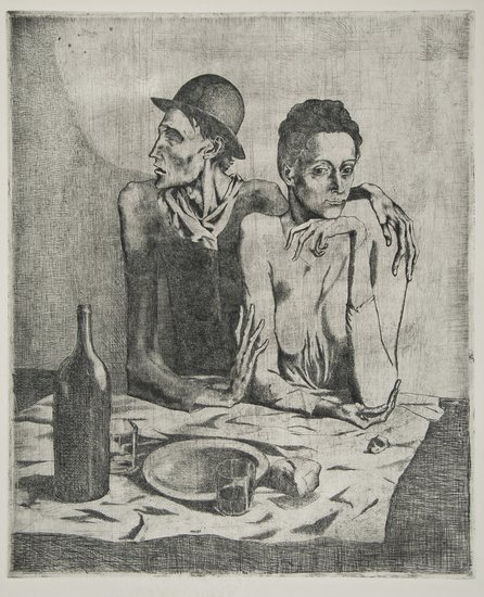 185: Pablo Picasso (1881-1973) Le Repas Frugal, from: L