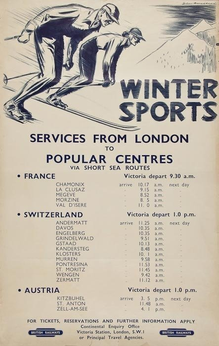 10: BROADHEAD, Dobson WINTER SPORTS, British Railways