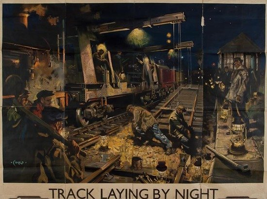 19: CUNEO, Terence TRACK LAYING BY NIGHT, British Rail