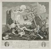 262 After William Hogarth A mixed group of prints
