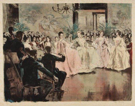 312: Alexandre Lunois (1863-1916) Le Menuet chez Madame