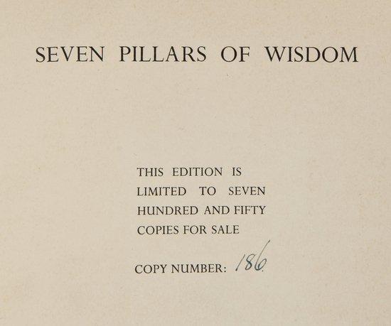 21: Lawrence (T.E.) Seven Pillars of Wisdom