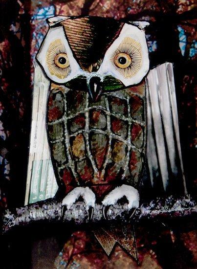 1: Ivor Abrahams (b.1935) Owl