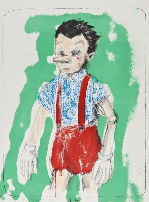 374: Jim Dine (b.1935) Pinocchio Coming from the Green