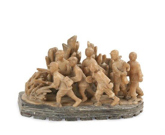24: Soapstone Sculpture Group The Red Army Soldiers an