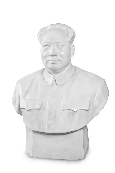 168: Large Half-Bust Statue of Chairman Mao