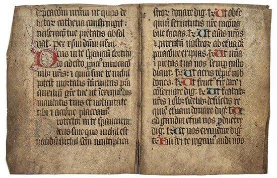 2: Missal, bifolium