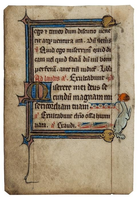 4: Book of Hours, single leaf