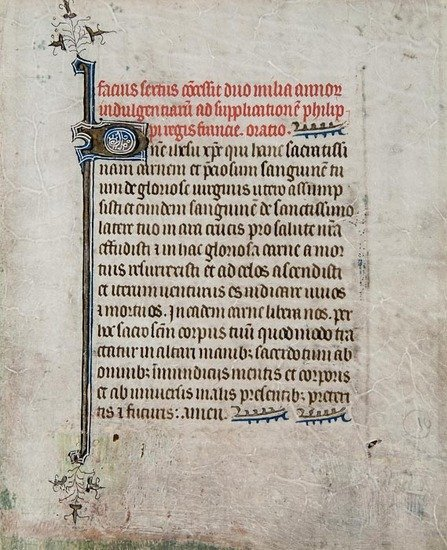 8: Book of Hours, single leaf