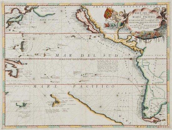 303: Coronelli (Vicenzo Maria) Mare del Sud, detto Altr