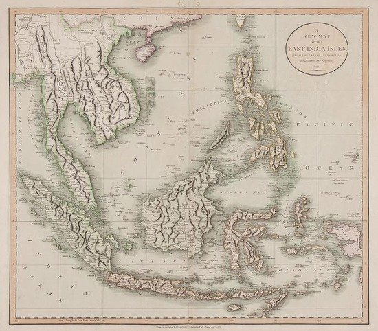 306: Cary (John) A New Map of the East India Isles