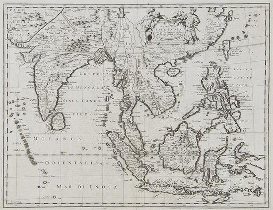 308: Speed (John) A New Map of East India