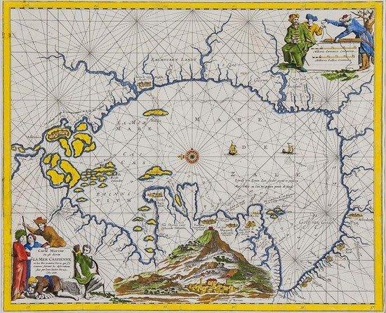 311: Van Meurs (Jacob) Carte Marine ou est Decrite la M