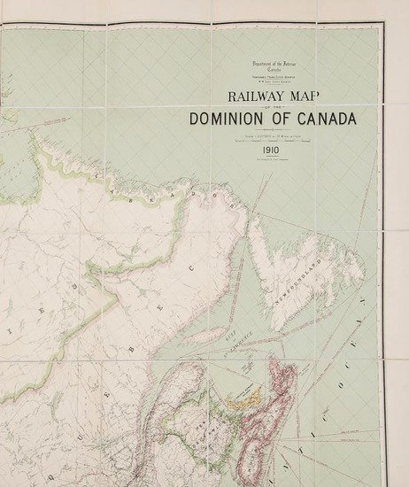 315: Young (R.E.) Railway Map of the Dominion of Canada
