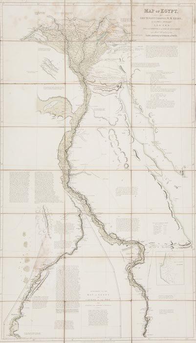 317: Leake (W.M., Lieutenant Colonel) Map of Egypt