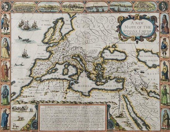 319: Speed (John) A New Mappe of the Romane Empire