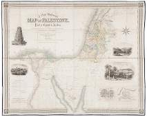 351: Creighton (R.) A New Historical Map of Palestine,