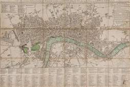 476 Cary John Carys New Pocket Plan of London West