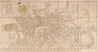 486 Cary John New and Accurate Plan of London and We