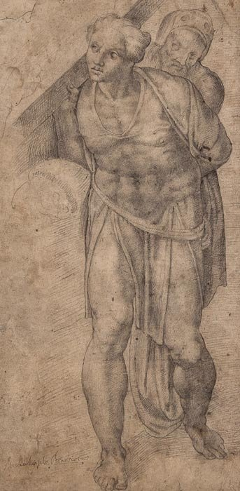 603: After Michelangelo (Buonarroti) A figure from the