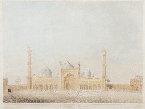 804: Thomas Daniell (1749-1840) The Jumnah Musjed, Delh